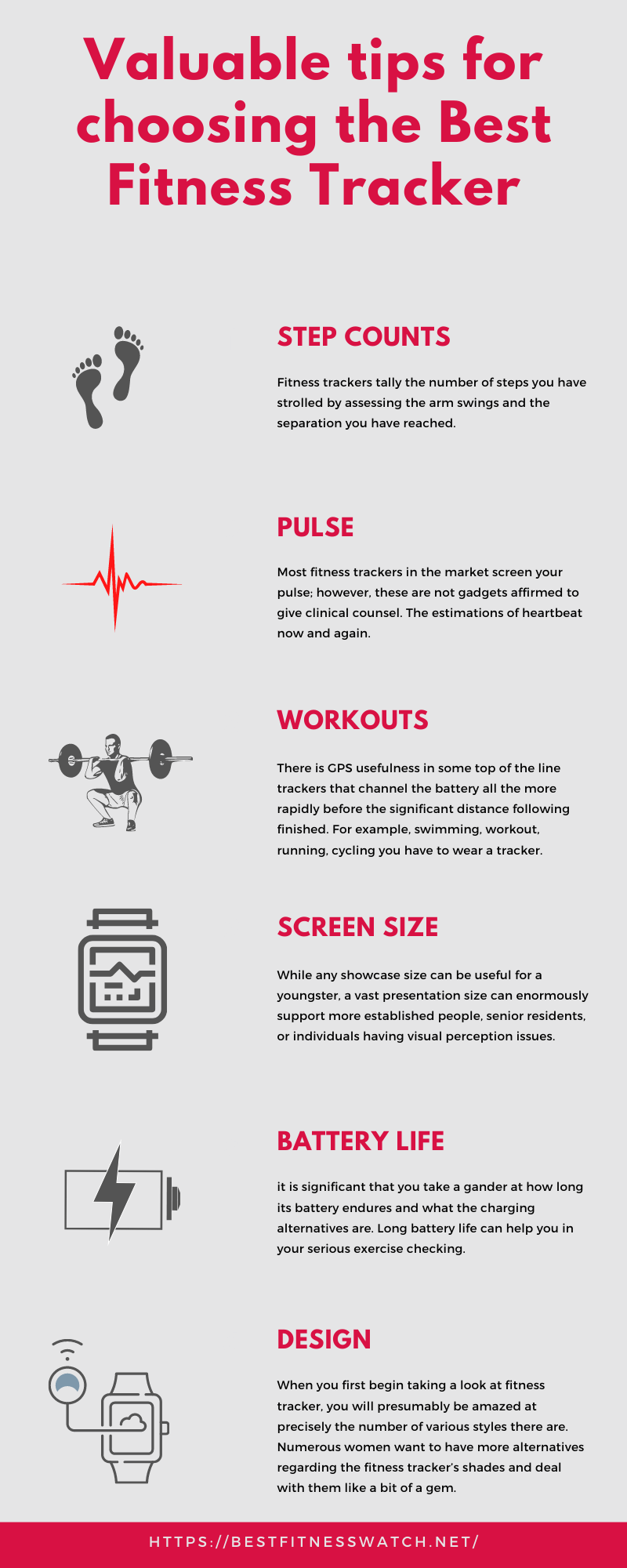 Infographic tips to choose best fitness tracker of 2021